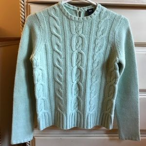 Mint Cable Knit Sweater